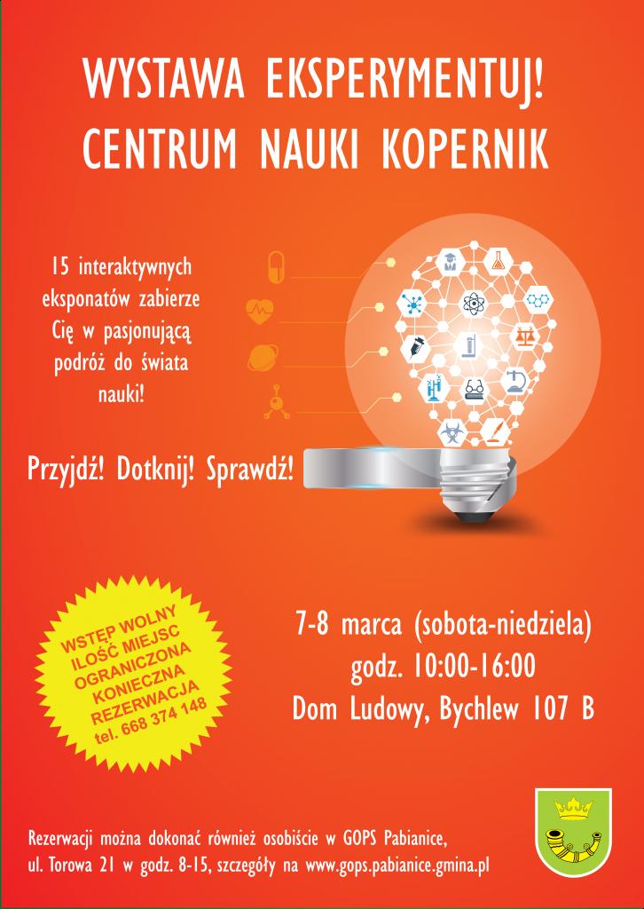 Wystawa Centrum Nauki Kopernik - plakat