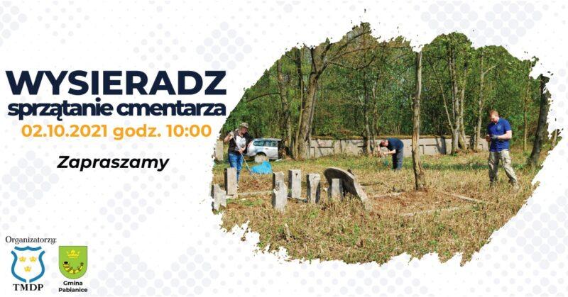 Sprzątanie cmentarza wWysieradzu
